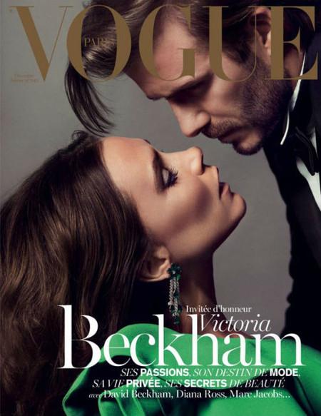 David y Victoria Beckham en la portada de Vogue Paris