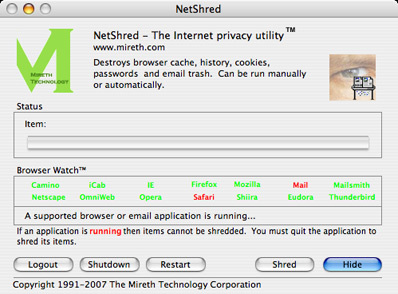 NetShred X, privacidad para Mac