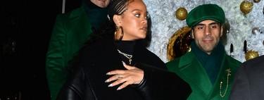 Rihanna demuestra que el total black es siempre la mejor opción con un look de cuero por las calles de Londres