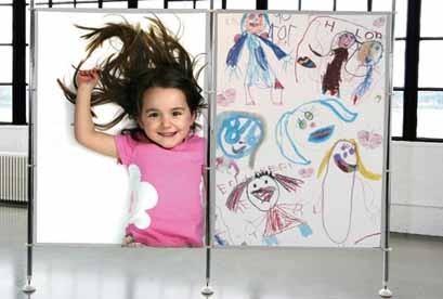 Biombo personalizado con fotos y dibujos de los niños