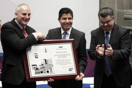 """Ciudad de Puebla reconocida como """"Ciudad Digital"""" por SAP"""