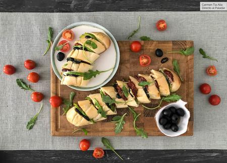 Baguette de Mozarella y tomates secos