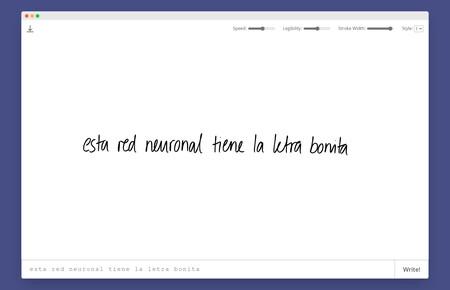 Escribe algo y mira cómo esta red neuronal lo convierte automáticamente en caligrafía realista