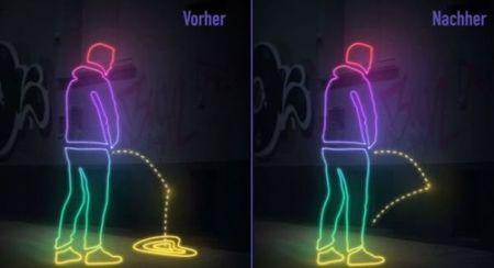 En esta ciudad de Alemania los que orinan en público tienen el riesgo de mojarse a sí mismos