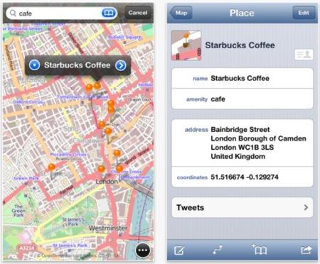 Ni lo uno ni lo otro: prueba OpenMaps para iOS