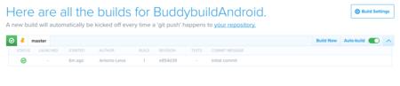 Buddybuild Configurado