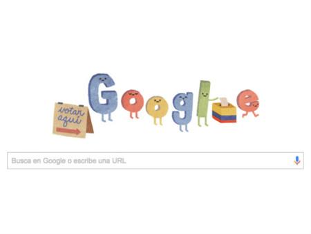 Google invita a los colombianos a votar con su 'doodle' de hoy