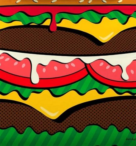 La funda nórdica de hamburguesa de David Delfín