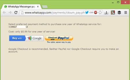 WhatsApp con PayPal