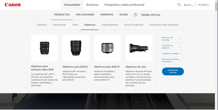 Canon Catalogo Objetivos