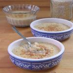 Receta dulce de quinoa con leche. Una versión moderna del arroz con leche de toda la vida