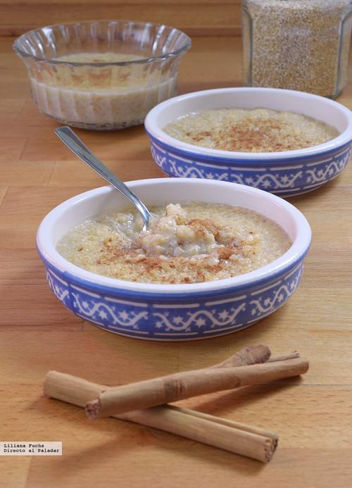 Receta dulce de quinoa con leche: una versión moderna del arroz con leche de toda la vida