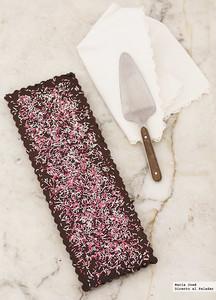 Tarta rápida de chocolate negro y galletas Oreo. Receta