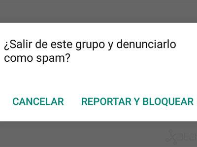 Cómo denunciar a un usuario o grupo de WhatsApp por spam