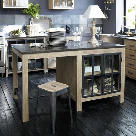 7 islas de cocina de peque o tama o de maisons du monde for Cuisines maison du monde