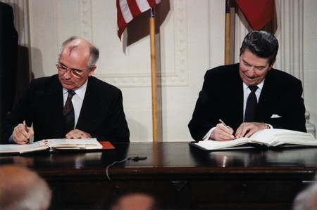 Reagan And Gorbachev Signing