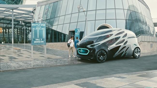 El coche eléctrico y autónomo del futuro de Mercedes-Benz será modular para llevar mercancías o pasajeros