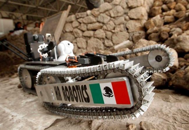 Tláloc II, el robot para explorar las cámaras secretas de Teotihuacan.