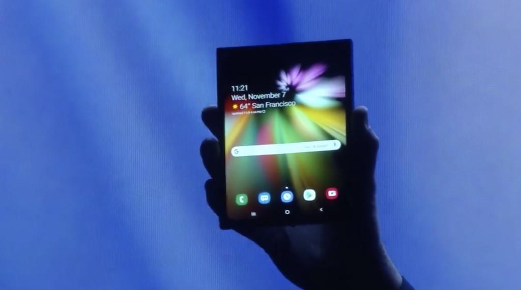 Aquí está el primer dispositivo plegable de Samsung, que saldrá a la venta en 2019