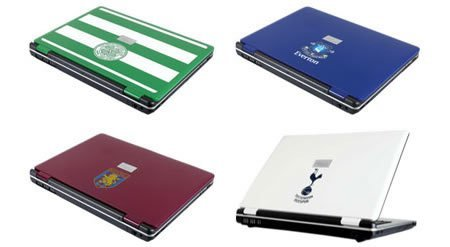 Portátiles de equipos de fútbol con Fujitsu Siemens