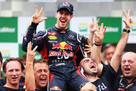 Sebastian Vettel es el piloto con más vueltas rápidas en el 2012