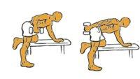 Musculación para corredores (XIII): patada de tríceps con mancuerna