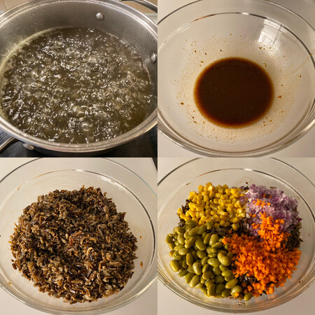 paso a paso ensalada de arroz