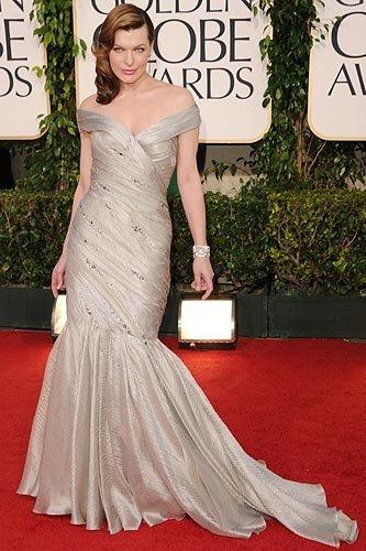 Milla Jovovich Globos de Oro 2011