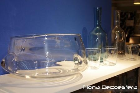 Objetos de vidrio soplado artesanal