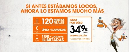 Euskaltel planta cara a Fusión: 120 Mbps y móvil por 42.23 euros al mes durante un año