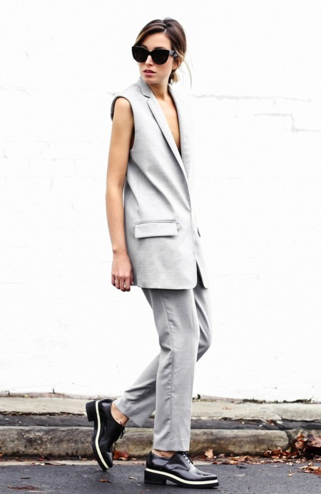 Chronicles Of Her Grey Rag Bone Suit Acne Brogues