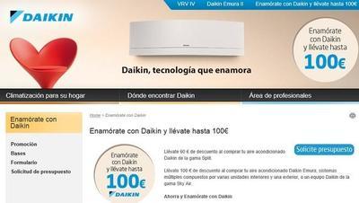 Daikin ofrece descuentos veraniegos en sus equipos de aire acondicionado