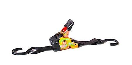 Un buen invento: correas autoajustables para llevar la moto en el remolque