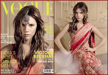 Victoria Beckham portada de noviembre en Vogue India