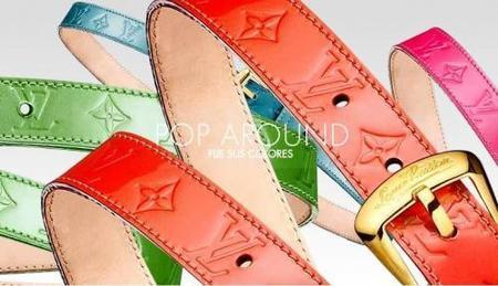 Louis Vuitton añade colores Pop a sus cinturones