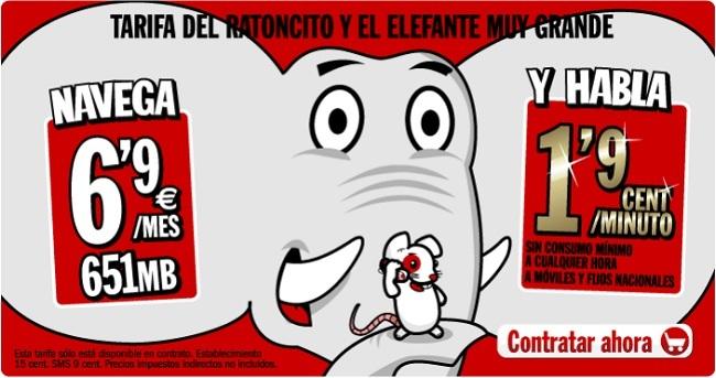 Tarifa Ratoncito y elefante de Yoigo
