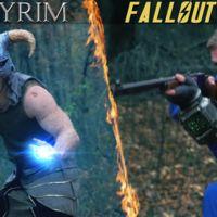 Este corto nos ofrece una épica batalla entre Fallout 3 y Skyrim