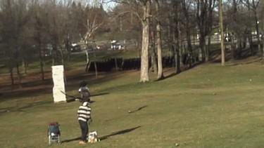 Un águila real atrapa a un bebé en un parque para llevárselo volando... ¡que noooo!