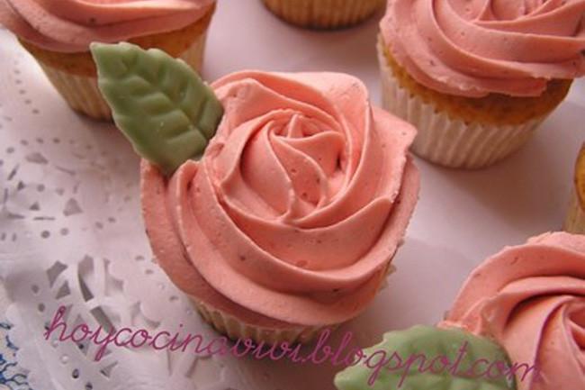 cup cakes de fresa