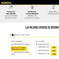 Internet, fijo y móvil por sólo 36,89 euros al mes con Másmóvil
