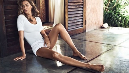 gisele verano hm total look blanco