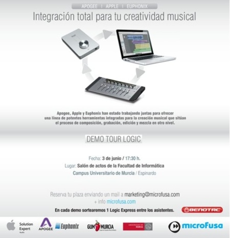 Demo Tour Logic, evento para creativos musicales el 3 de Junio