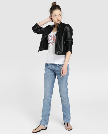 Cazadorap Epe Jeans Biker Entretiempo