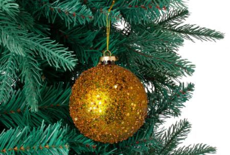 Bola Para El Arbol Glitter Navidad El Corte Ingles
