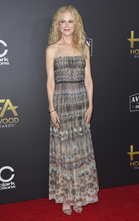Nicole Kidman hollywood film awards 2018 red carpet look
