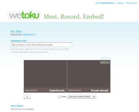 Wetoku, realizando entrevistas en vídeo desde la web
