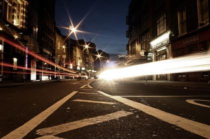 Old street at the speed of light