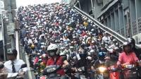 El tráfico en Taipei (Taiwán)