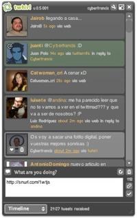 Twhirl, espectacular cliente twitter para la plataforma Adobe Air