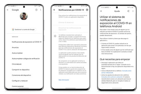 Notificaciones Covid Google